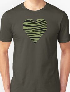 0440 Moss Green or Turtle Green Tiger Unisex T-Shirt