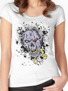 Zombie painting Women's Fitted Scoop T-Shirt