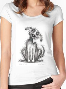 Bingo the dog Women's Fitted Scoop T-Shirt
