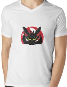 How To Train Your Dragon, Toothless cute pocket Mens V-Neck T-Shirt