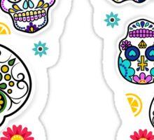 Sugar Skull Mexican Style Printed Leggings Mexico Tradition Sticker