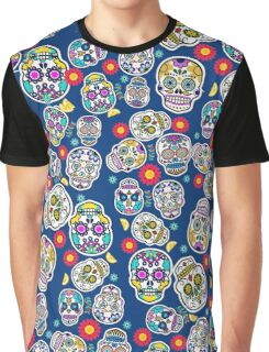 Sugar Skull Mexican Style Printed Leggings Mexico Tradition Graphic T-Shirt
