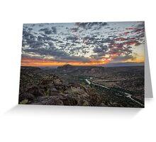 Rio Grande River Sunrise 2 - White Rock New Mexico Greeting Card