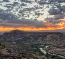Rio Grande River Sunrise 2 - White Rock New Mexico Sticker