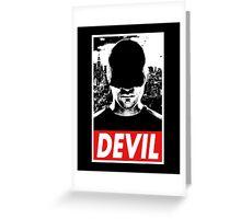 DAREDEVIL - Obey Design Greeting Card