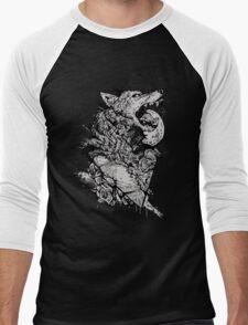 Werewolf Therewolf Men's Baseball ¾ T-Shirt