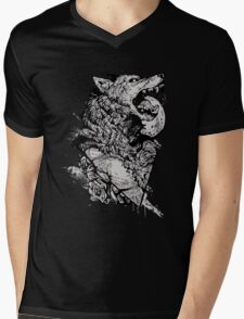 Werewolf Therewolf Mens V-Neck T-Shirt
