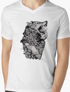 Werewolf Therewolf Mens V-Neck T-Shirt