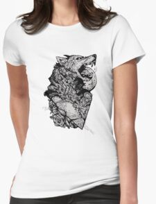 Werewolf Therewolf Womens Fitted T-Shirt