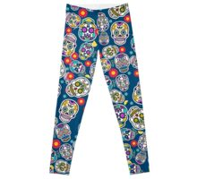 Sugar Skull Mexican Style Printed Leggings Mexico Tradition Leggings