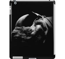 rhino - black shirt iPad Case/Skin