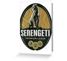 SERENGETI LAGER BEER OF TANZANIA Greeting Card