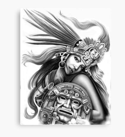 Warrior aztec Canvas Print