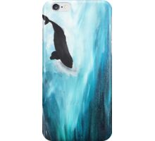 """""""Never Enough"""" Diving Right Whale iPhone Case/Skin"""