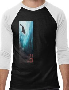 """Never Enough"" Diving Right Whale Men's Baseball ¾ T-Shirt"