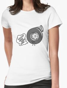 What does the turbo say? Womens Fitted T-Shirt