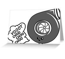 What does the turbo say? Greeting Card
