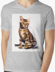 Cat 01 Mens V-Neck T-Shirt