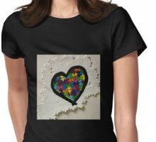 Autism love Womens Fitted T-Shirt