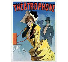 1896 Vintage French theatre phone (theatrophone) by Cheret Photographic Print