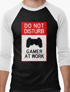 do not disturb gamer at work Men's Baseball ¾ T-Shirt