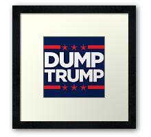 Dump Trump - 2016 Election Framed Print