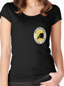 TUSKER LAGER BEER KENYA T SHIRT (SMALL LOGO) Women's Fitted Scoop T-Shirt