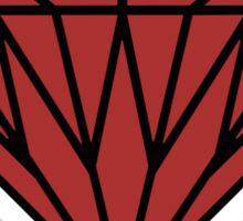 Black & Red Gem Sticker