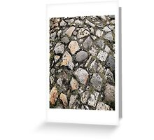 Rustic vintage French Cobblestone Greeting Card