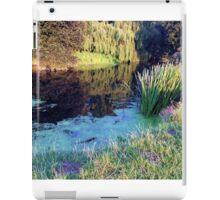 Colourful English countryside landscape  iPad Case/Skin