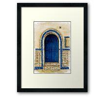 door collection: blue door Framed Print