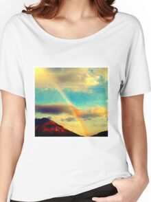 mountain rainbow Women's Relaxed Fit T-Shirt