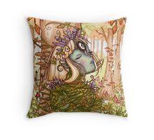 Goddess of Seasons Throw Pillow