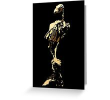 bird skeleton, bird anatomy Greeting Card
