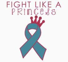 Fight Like a Princess - Teal One Piece - Short Sleeve