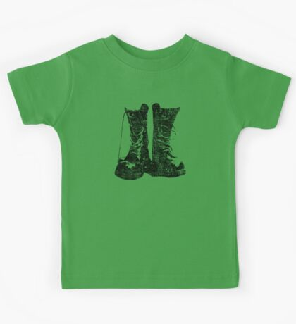 Leather Boot T shirt Kids Tee
