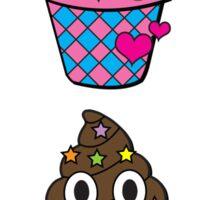 Emoji Poop Ice Cream Rainbow  Sticker