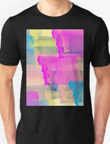 Watercolor Abstract Vivid Colorful Pop Unisex T-Shirt