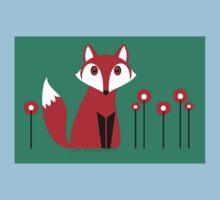 LONE FOX IN GARDEN Baby Tee