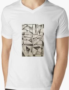 Wassily Abstract Mens V-Neck T-Shirt