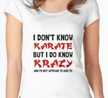 Karate Krazy Women's Fitted Scoop T-Shirt