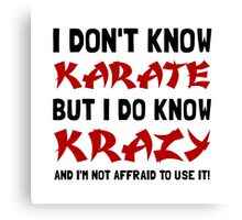 Karate Krazy Canvas Print