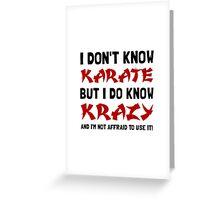 Karate Krazy Greeting Card