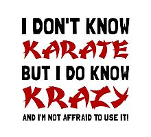 Karate Krazy Photographic Print