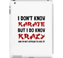 Karate Krazy iPad Case/Skin