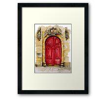 door collection: red door Framed Print