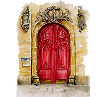 door collection: red door Photographic Print