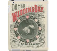 Wedding congratulations vintage Card  iPad Case/Skin