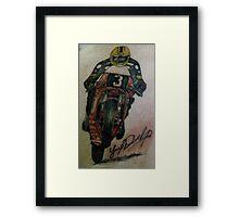 Joey Dunlop signed Tattoo Framed Print