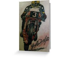 Joey Dunlop signed Tattoo Greeting Card